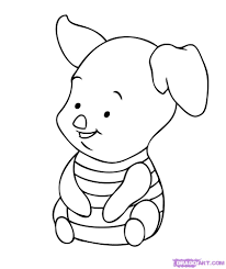 baby tigger coloring pages how to draw baby piglet step by step