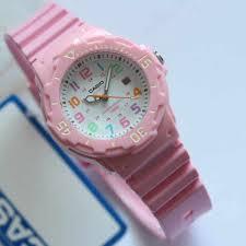 Jam Tangan Casio Karet tangan casio wanita lrw 200 original tali karet