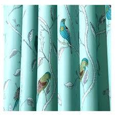 Teal Bird Curtains Teal Bird Curtains Applique Birds On A Wire Curtain Teal Tropical