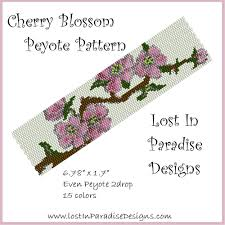 free beaded bracelet pattern images Peyote bracelet pattern cherry blossom buy 2 get 1 free png