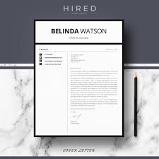 resume template in word resume templates hired design studio