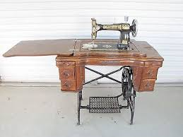 White Sewing Machine Cabinet by 1914 Antique White Sewing Machine 6 Drawer Oak Wood Treadle
