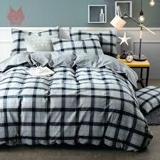 Pure Cotton Duvet Covers Duvet Covers Gray Plaid Queen Duvet Cover Grey Plaid Duvet