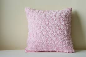 Pink Decorative Pillows Light Pink Rosette Pillow Cover 3 D Pink Roses Cushion Cover
