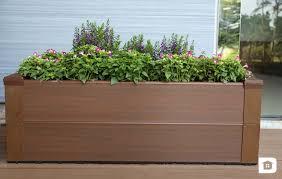 jardinière en bois terrasse composite newtechwood ultrashield