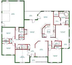 open layout house plans single open floor plans plan single level one