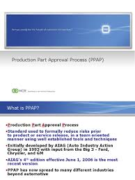 ncr supplier ppap training presentation ppt production and