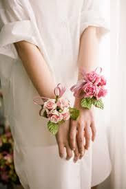 corsage bracelet paper flowers mulberry bracelet paper flower byhands
