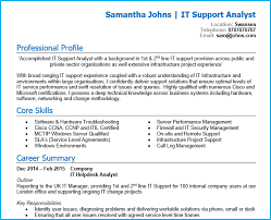 Itil Certified Resume Create A High Impact Cv In 4 Simple Steps Professional Cv Template