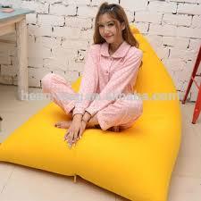 comfortable triangle shape bean bag sofa chair big bean bag pillow