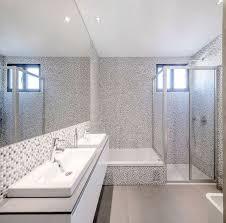 Simple Modern Bathroom Wall Mosaic Ceramic Tiles Simple Modern Bathroom Design With White