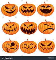 vector illustration halloween pumpkin jack o stock vector