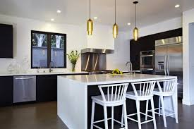 bright kitchen light fixtures kitchen island modern lighting adds a bright pop to a california home