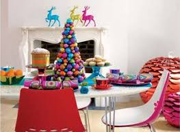 enticing colourful christmas table decoration idea perfect table