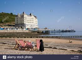 the seaside resort of llandudno conwy wales uk stock photo
