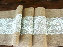 ice blue table runner burlap and lace wedding tablecloth burlap tablecloth lace overlay