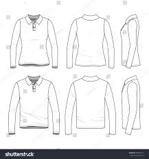 front back side views clothing set stock vector 658935916