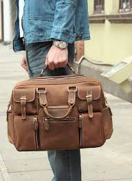 leather travel bags images Large handmade vintage leather travel bag leather messenger bag jpg