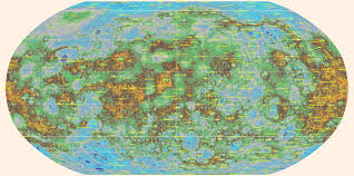 Topographical Map Of United States by Scientists Create Global Topographic Map Of Mercury Planetary