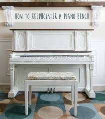 thanksgiving piano how to reupholster a piano bench u create
