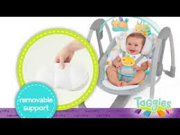Comfort And Harmony Portable Swing Instructions Taggies Leafscape Portable Swing Youtube