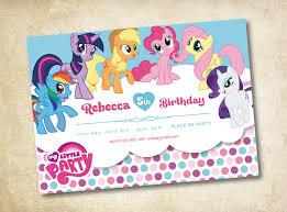 create my little pony birthday party invitations free