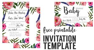 printable invitation template birthday floral invitation free printable invitation templates paper