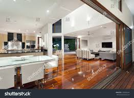 Luxurious Home Interiors Luxurious Home Interior Large Sliding Doors Stock Photo 129899264