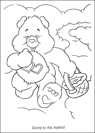 care bears going to the market coloring page