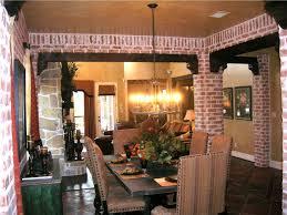 interior living packer brick dining room columns 03