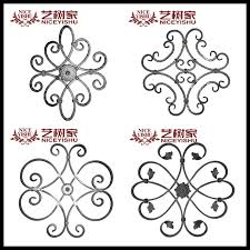 cast iron fence parts metal ornaments for steel gate garden iron