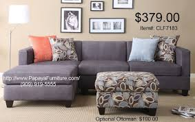 Gray Microfiber Sectional Sofa Modern Charcoal Gray Microfiber Sectional With Reversible