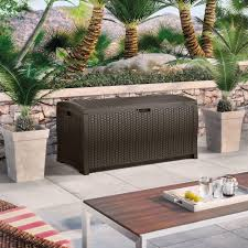 Suncast 50 Gallon Patio Bench by Furniture Suncast Deck Box Patio Storage Containers Resin