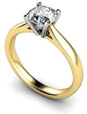 gold engagement rings uk 18ct gold solitaire ring ebay