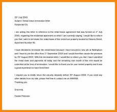 rental lease termination letter rental agreement termination