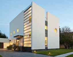 Architecture Modern House With White Exterior Design Plus Marble - Exterior modern home design