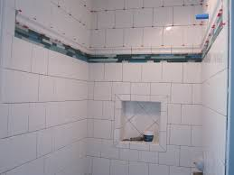 Tile Shower Pictures by Running Bond Ceramic Tile Shower Stall Youtube