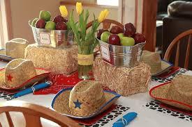 Cowboy Decorations Western Cowboy Themed Table Decorations Ideas Decolover Net