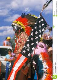 A American Flag Pictures A Native American With An American Flag Editorial Stock Photo