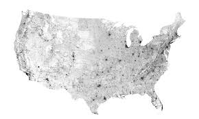 Zip Code Map Of The United States by A Map Of U S Roads And Nothing Else