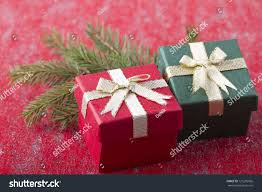 two gift boxes ornament stock photo 121285066
