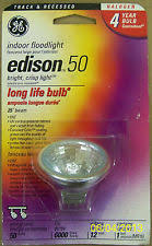ge edison halogen flood 50 watt 2 pin 12v track and recessed bulb
