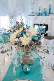 Winter Wonderland Diy Decorations - christmas table decorations blue and silver birthday decoration