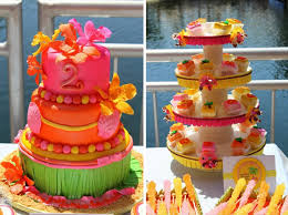 Tropical Themed Cake - tropical luau birthday party pretty my party