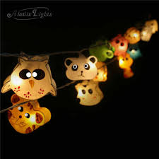 gaiashine zoo mix animals string lights fairy kid u0027s room night
