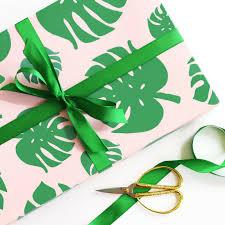 tropical wrapping paper wrapping paper tropical palm leaf nixxen