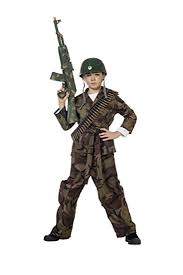 Military Halloween Costumes Amazon Soldier Green Boys Army Commando Kids Fancy Dress