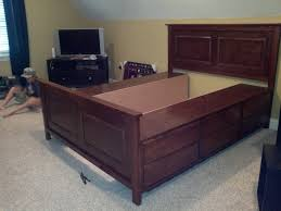Diy Platform Bed Frame With Storage by The Bullock 5 Queen Platform Storage Bed Diy
