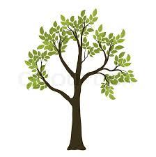 tree symbol green vector tree nature symbol stock vector colourbox