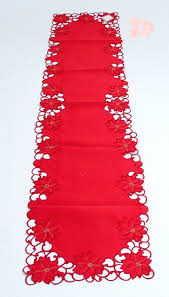 Christmas Plaid Table Runner by Poinsettia Table Runners Christmas Wikii